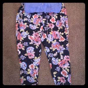 Old navy floral print pants XL